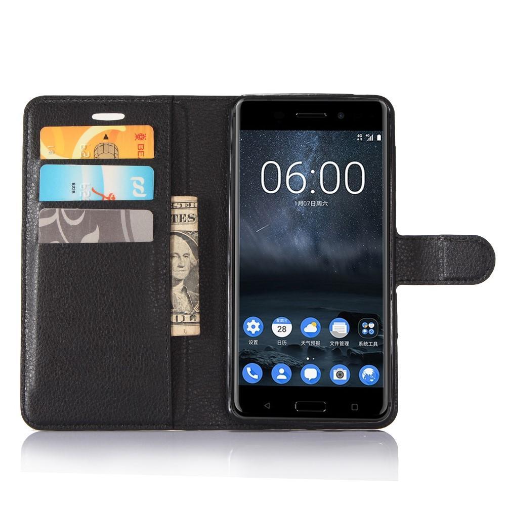 Mobilveske Nokia 6 svart