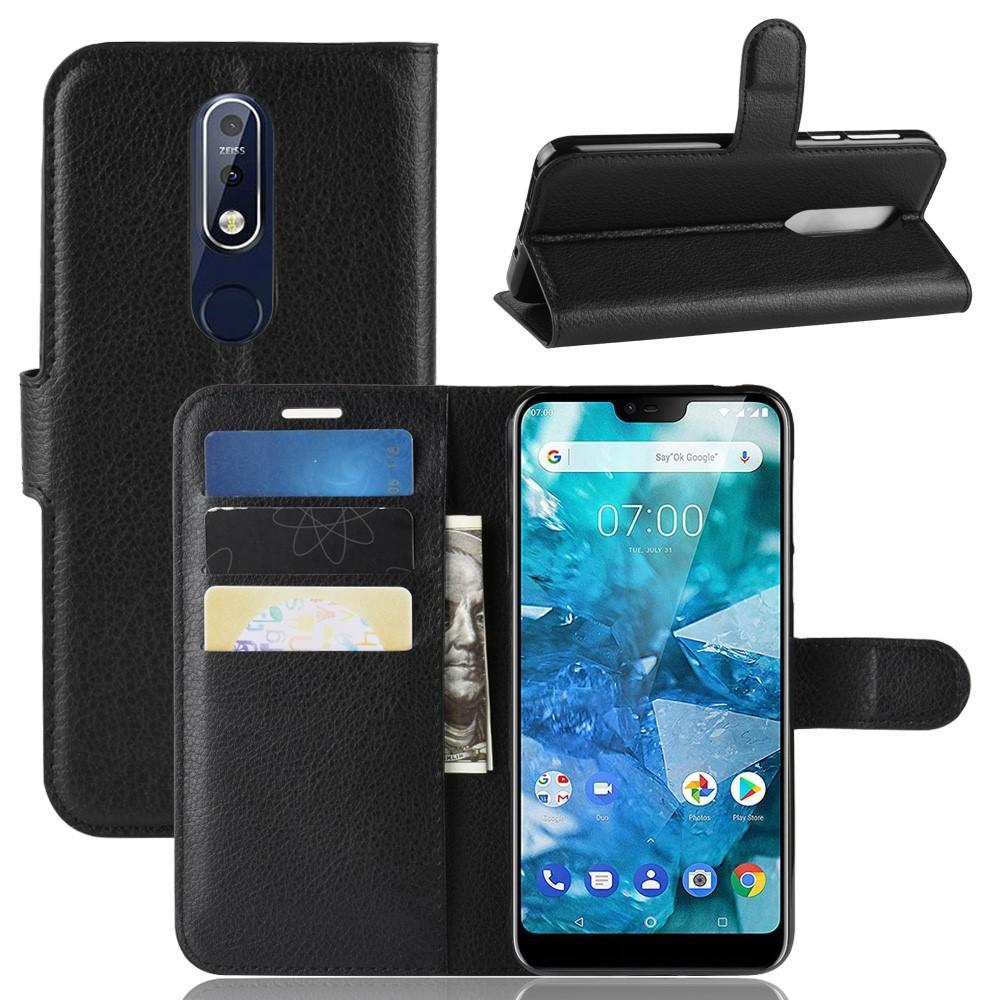 Mobilveske Nokia 7.1 svart