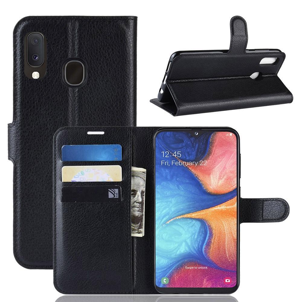 Mobilveske Samsung Galaxy A20e svart