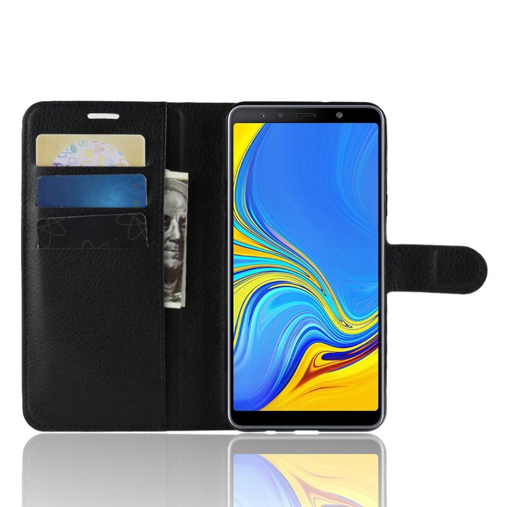 Mobilveske Samsung Galaxy A7 2018 svart
