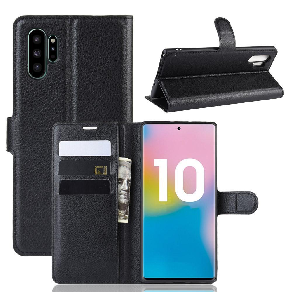 Mobilveske Samsung Galaxy Note 10 Plus svart