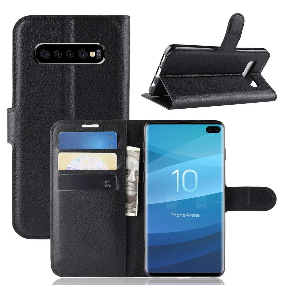 Mobilveske Samsung Galaxy S10 Plus svart