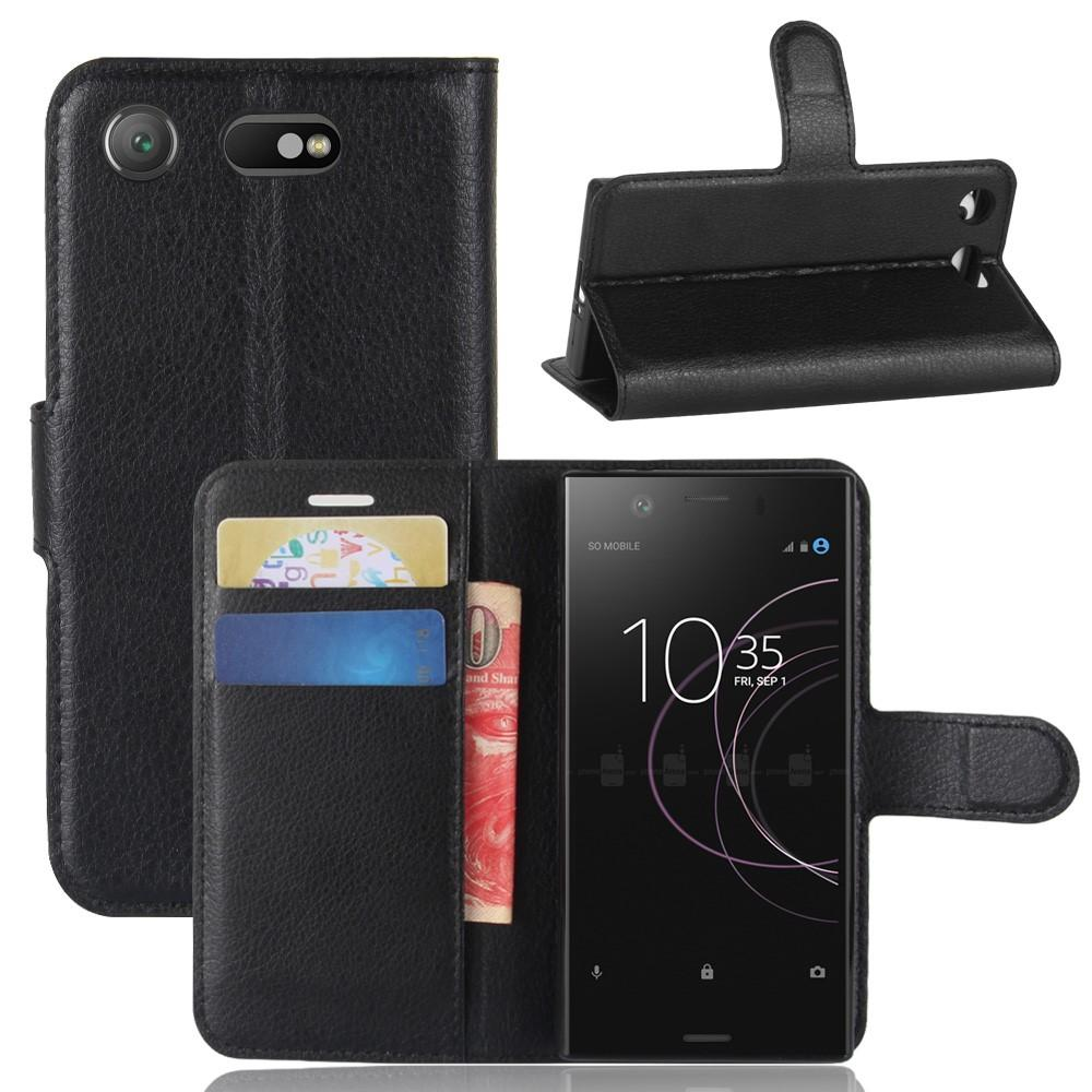 Mobilveske Sony Xperia XZ1 Compact svart