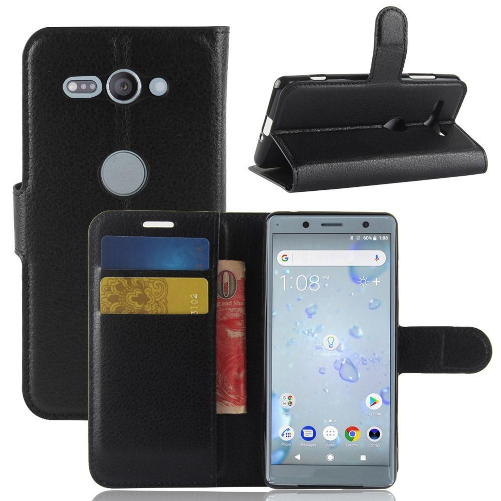 Mobilveske Sony Xperia XZ2 Compact svart