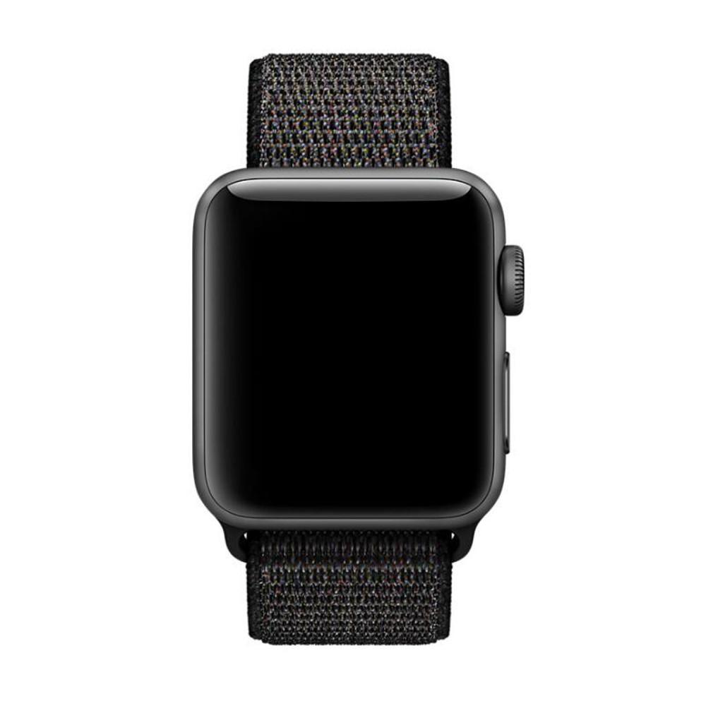 Nylonarmbånd Apple Watch 38/40/41 mm svart