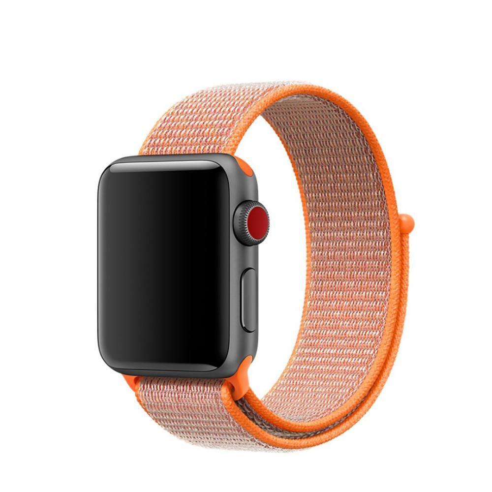 Nylonarmbånd Apple Watch 42/44/45 mm oransje