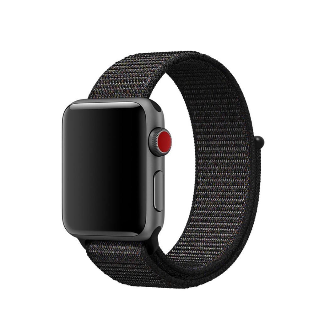 Nylonarmbånd Apple Watch 42/44/45 mm svart