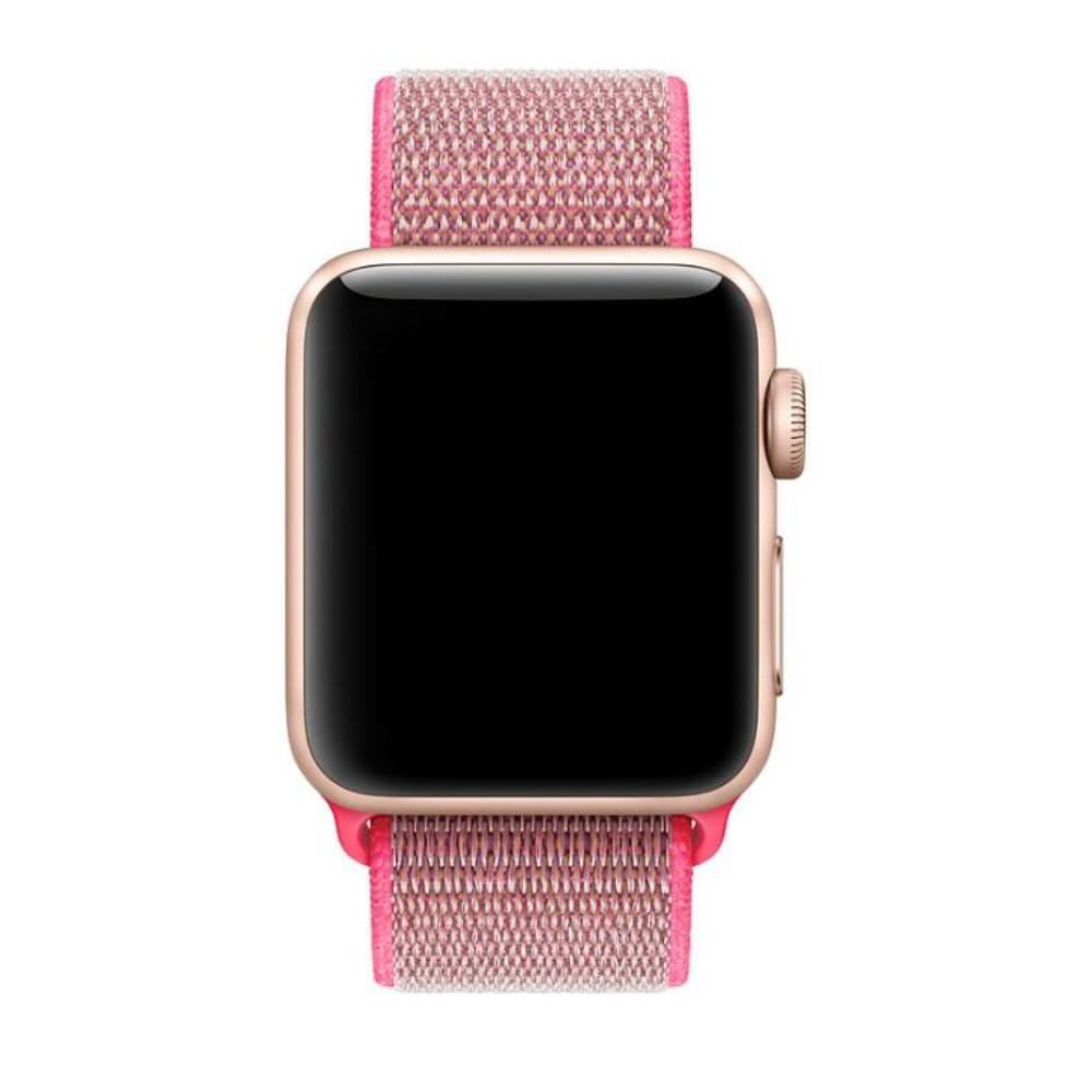 Nylonarmbånd Apple Watch 42/44/45 mm rosa