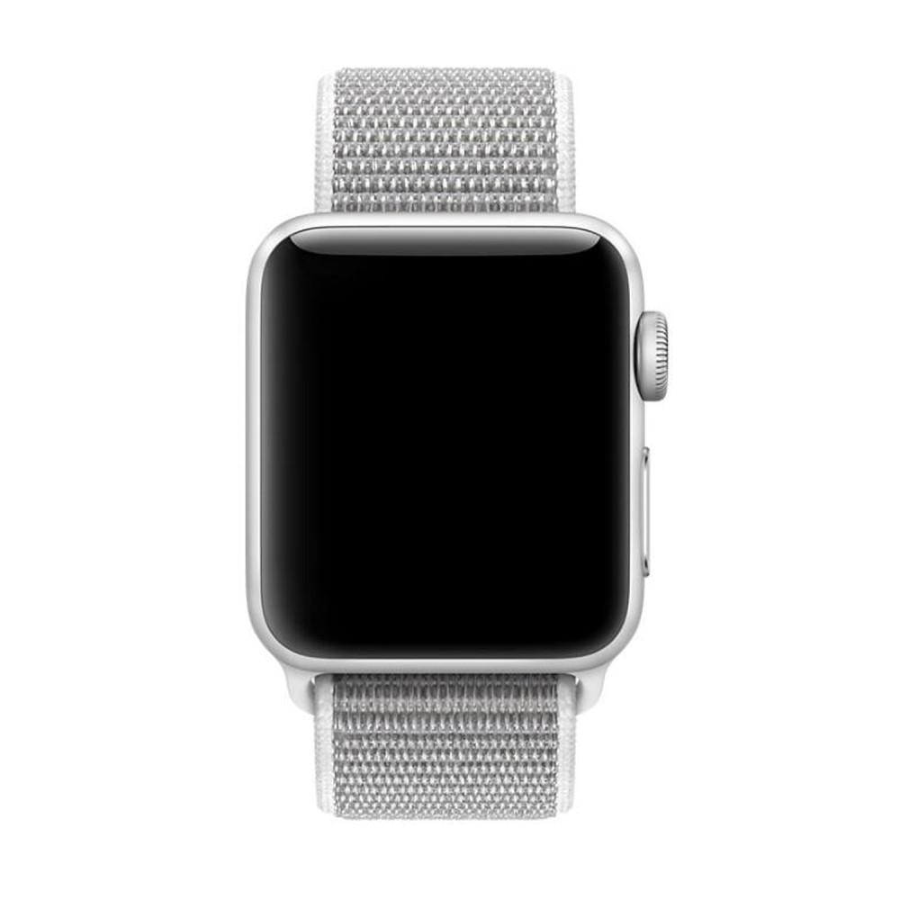 Nylonarmbånd Apple Watch 42/44/45 mm hvit