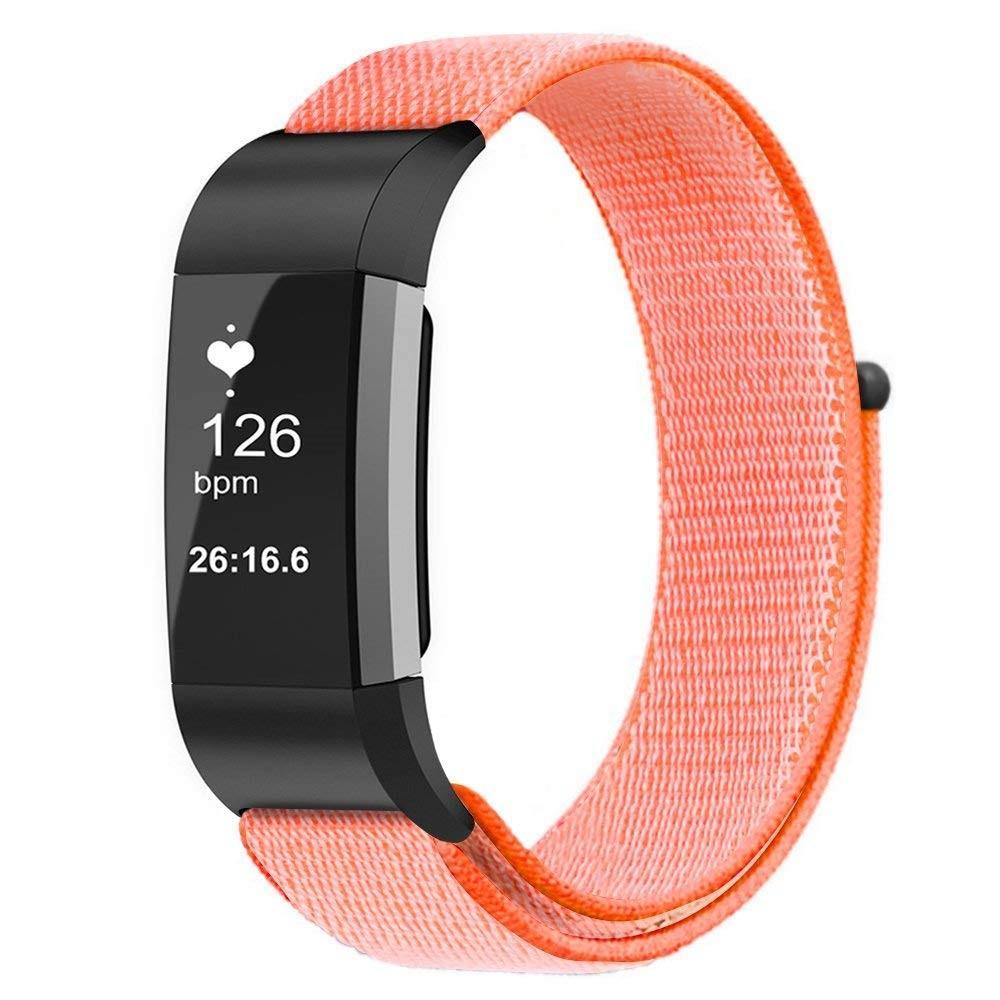 Nylonarmbånd Fitbit Charge 3/4 oransje