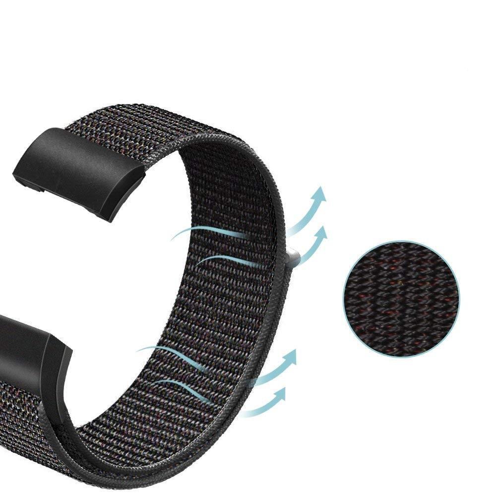Nylonarmbånd Fitbit Charge 3/4 svart