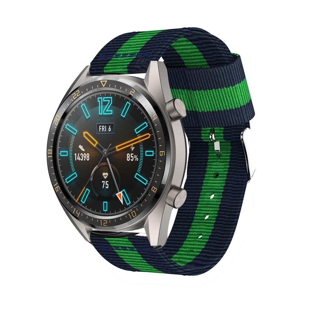 Nylonarmbånd Huawei Watch GT/GT 2 46mm/GT 2 Pro blå/grønn