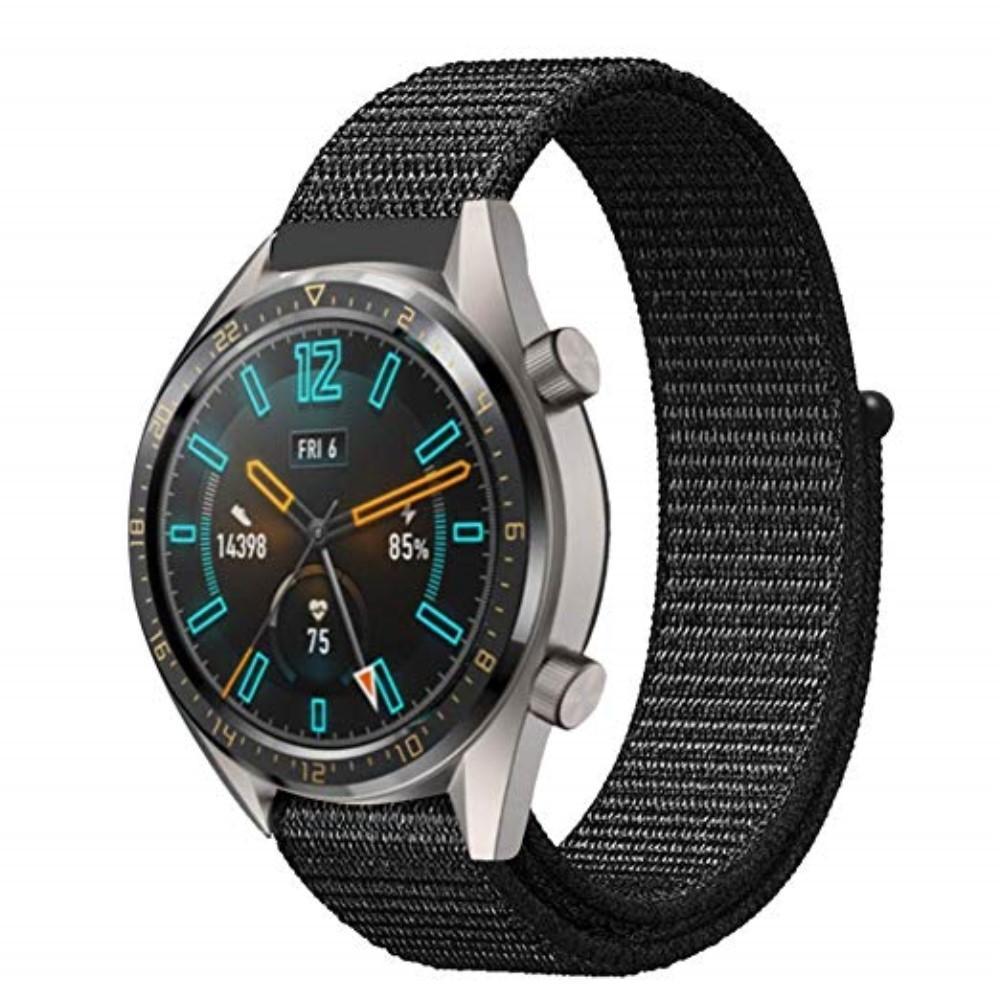 Nylonarmbånd Huawei Watch GT/GT 2 46mm/GT 2 Pro svart