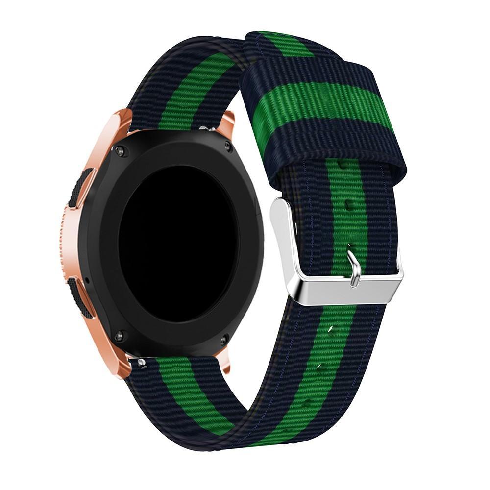 Nylonarmbånd Samsung Galaxy Watch 42mm blå/grønn