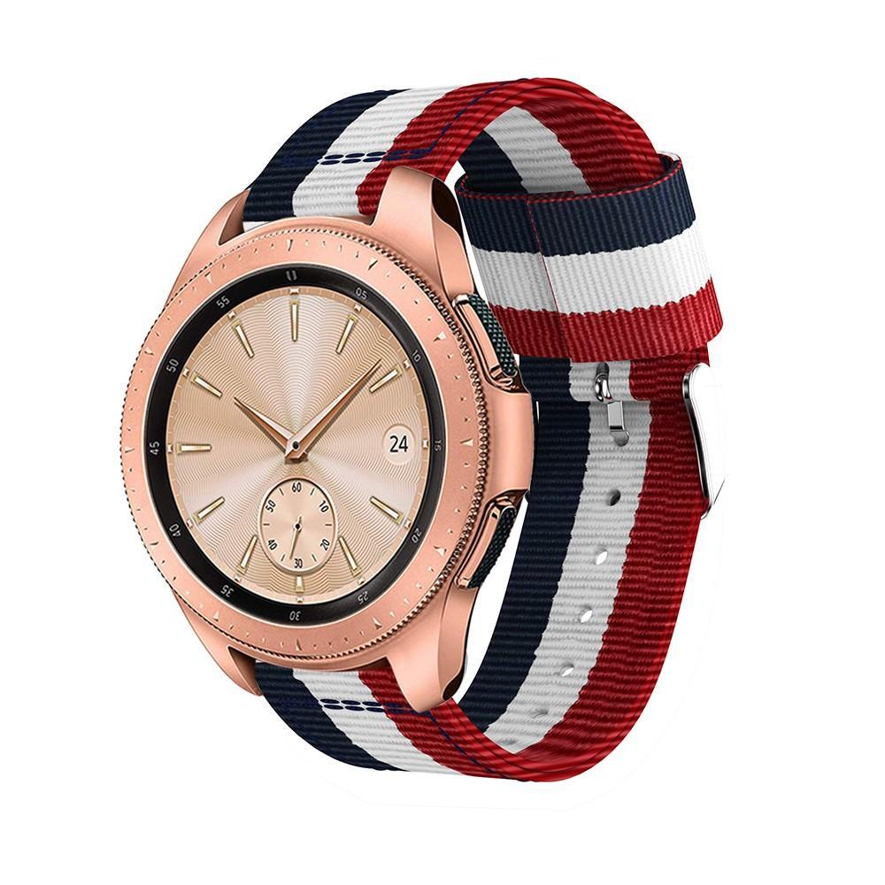 Nylonarmbånd Samsung Galaxy Watch 42mm blå/hvit/rød