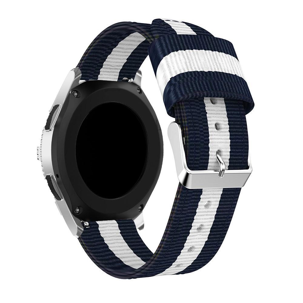 Nylonarmbånd Samsung Galaxy Watch 46mm/45mm blå/hvit
