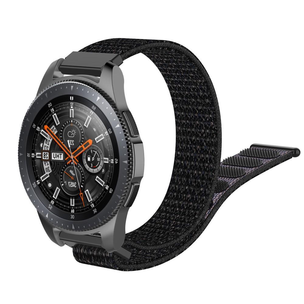 Nylonarmbånd Samsung Galaxy Watch 4 44mm/Classic 46mm svart