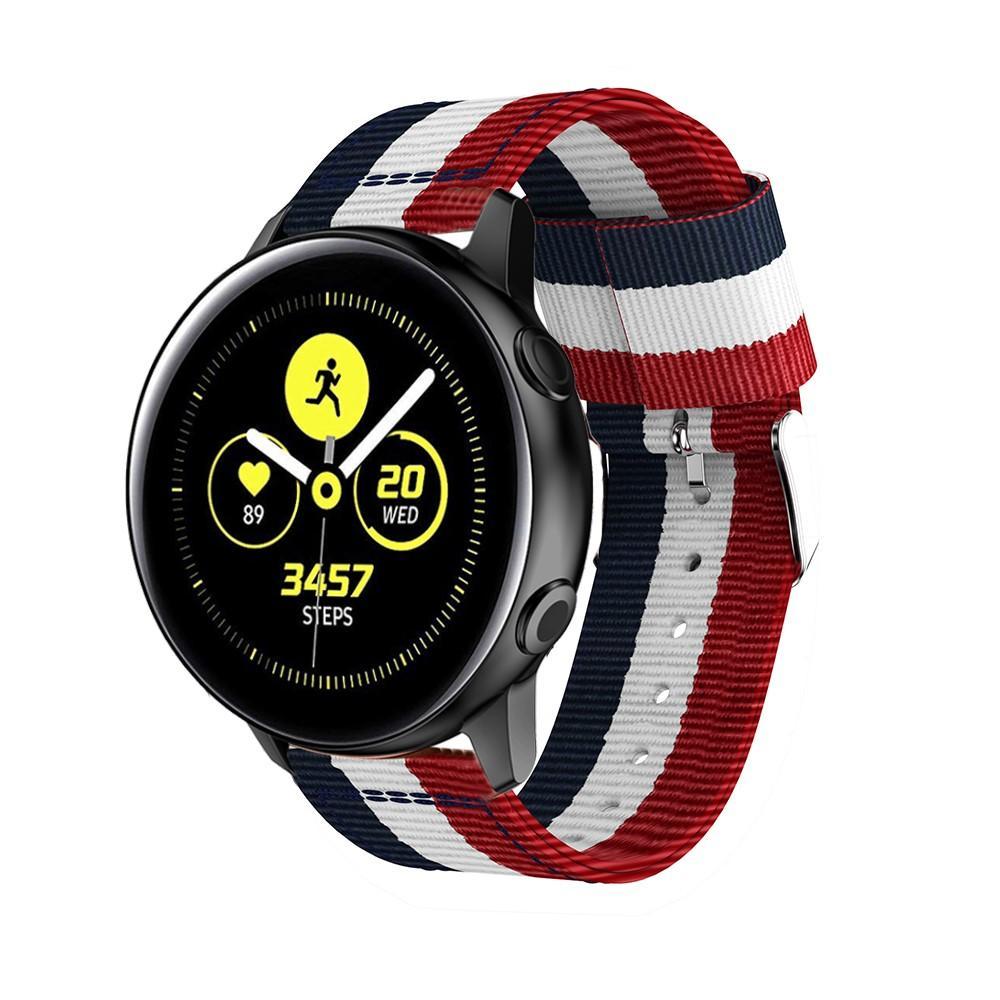 Nylonarmbånd Samsung Galaxy Watch Active/41mm blå/hvit/rød