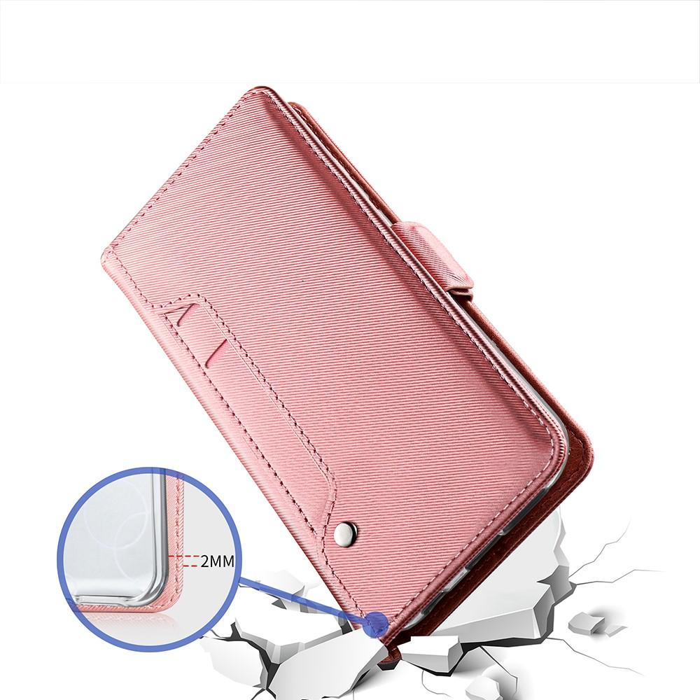Lommebokdeksel Speil Apple iPhone XS Max Rosa Gull