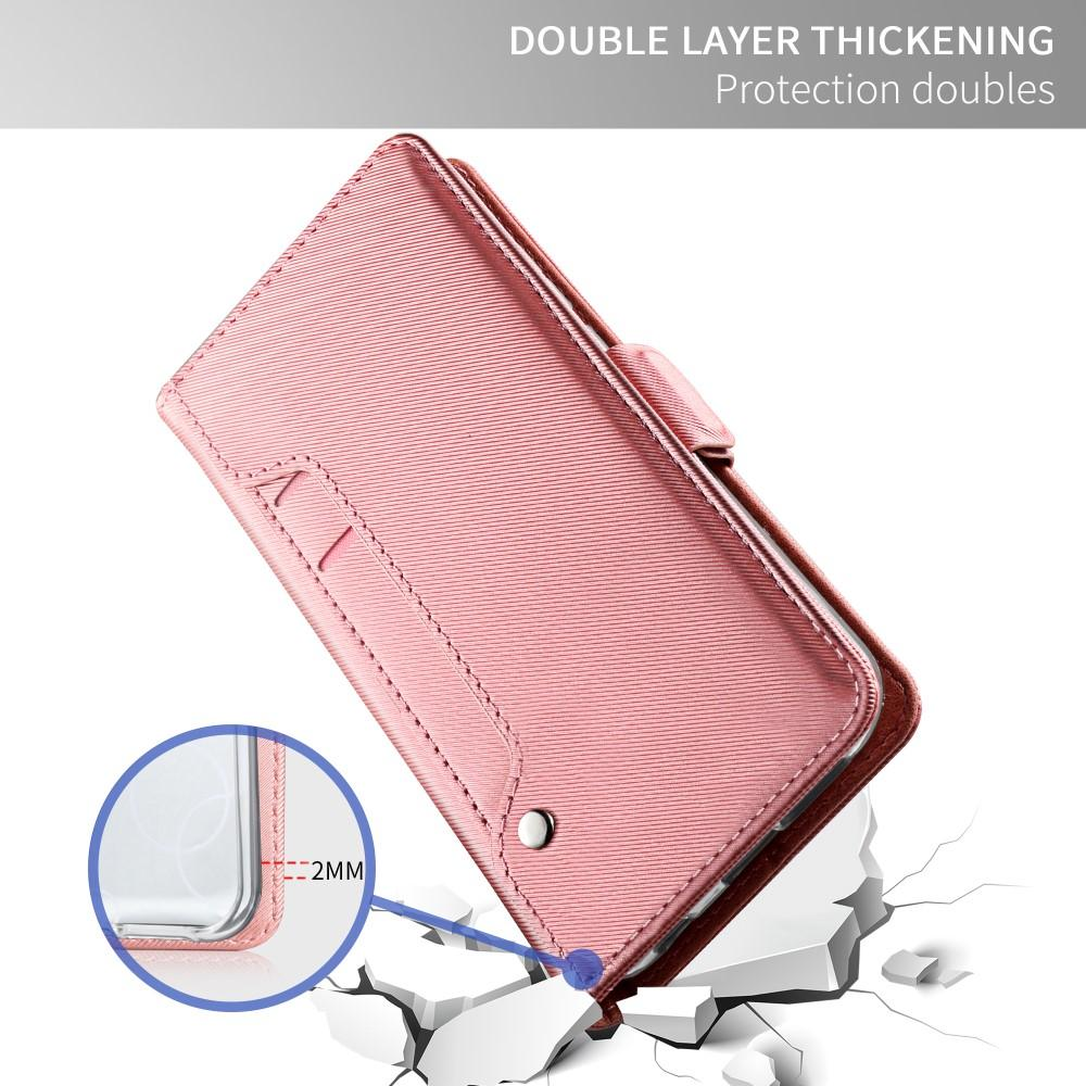 Lommebokdeksel Speil Apple iPhone X/XS Rosa Gull