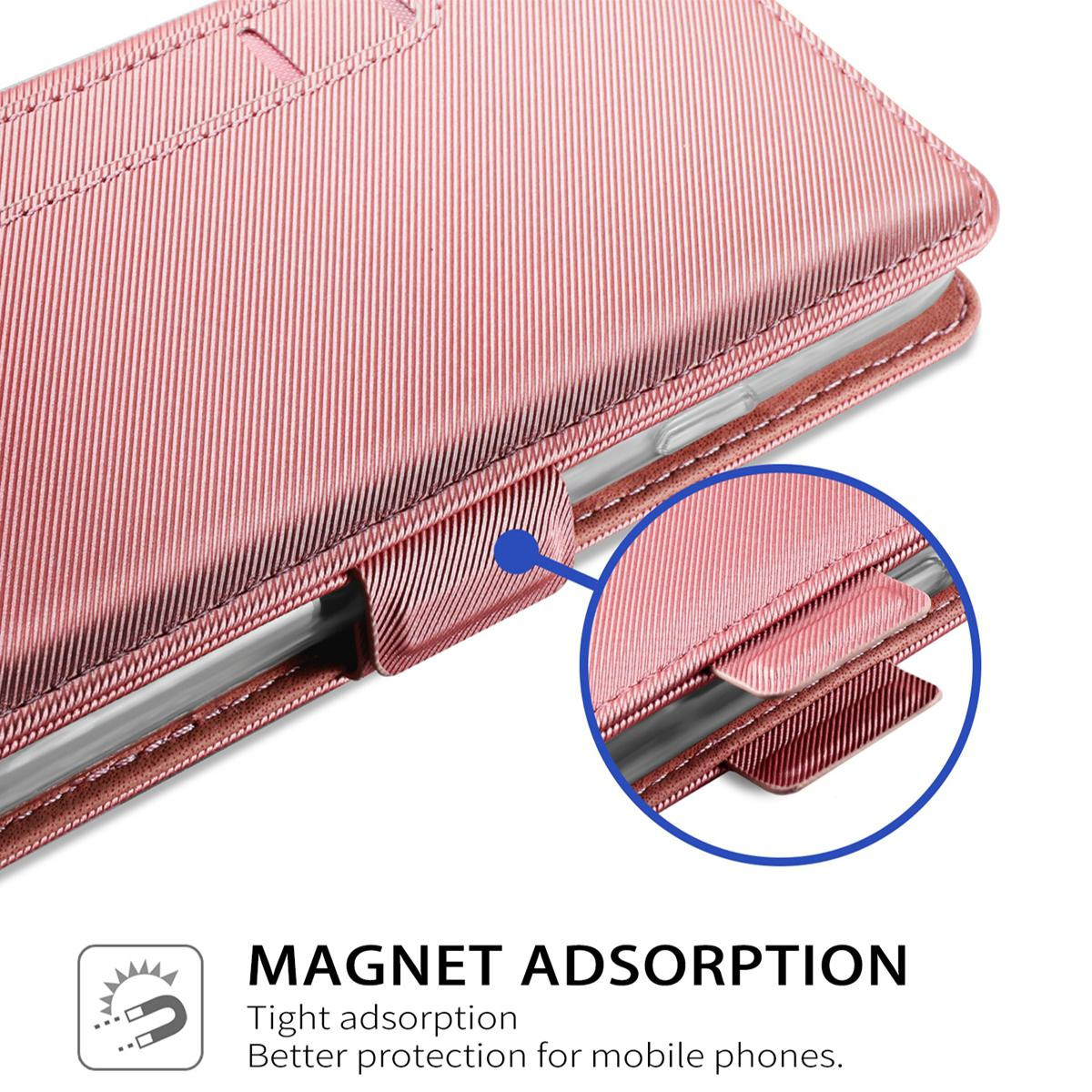 Lommebokdeksel Speil Galaxy S8 Rosa Gull