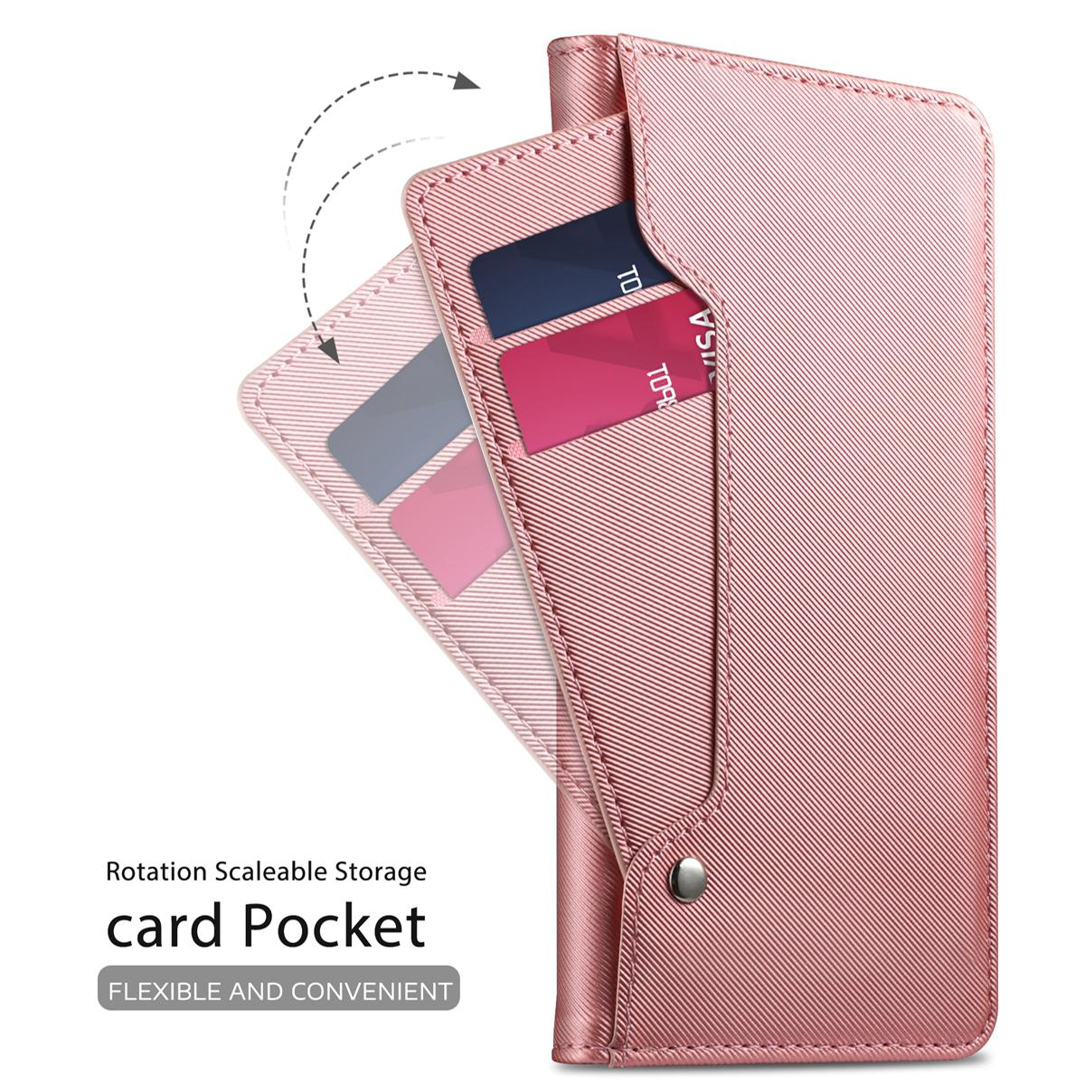 Lommebokdeksel Speil Galaxy S9 Rosa Gull