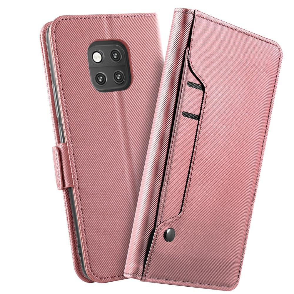 Lommebokdeksel Speil Huawei Mate 20 Pro Rosa Gull