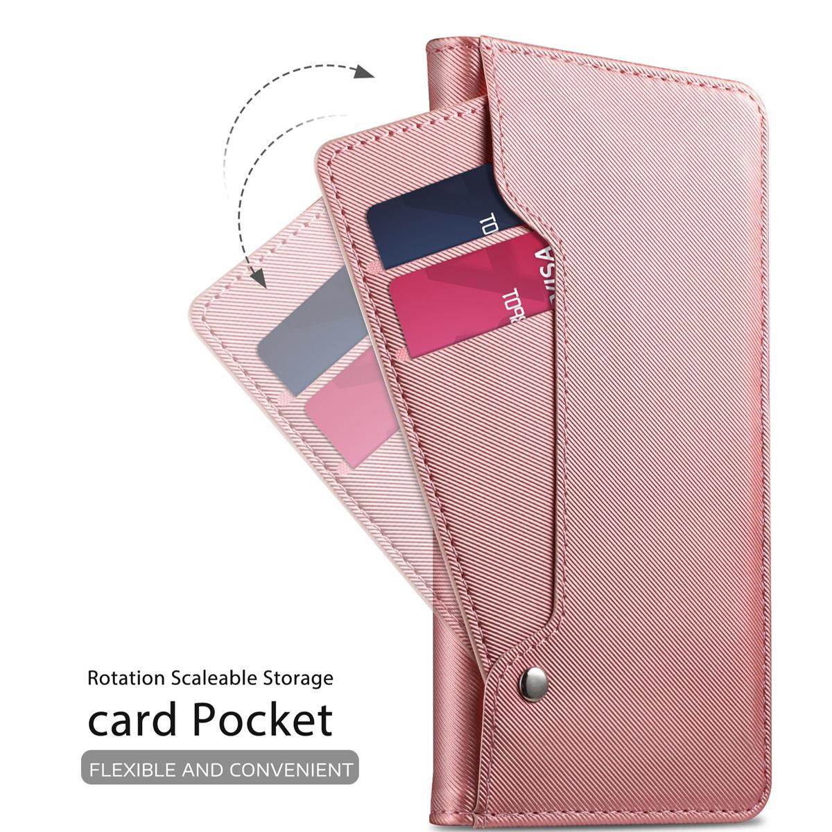 Lommebokdeksel Speil Huawei P30 Rosa Gull