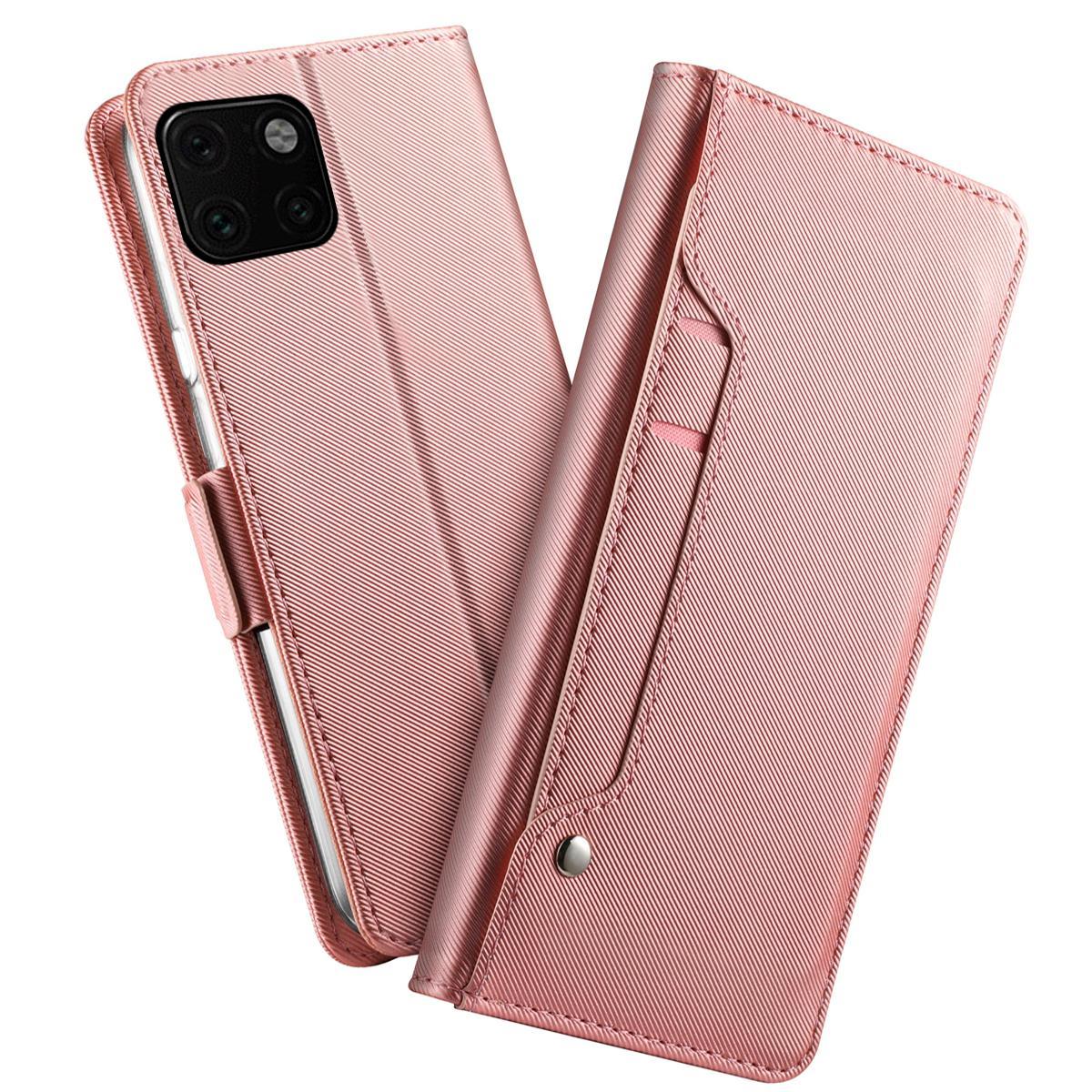 Lommebokdeksel Speil Apple iPhone 11 Rosa Gull