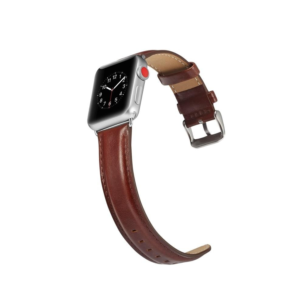 Premium Leather Armband Apple Watch 42/44/45 mm Brown