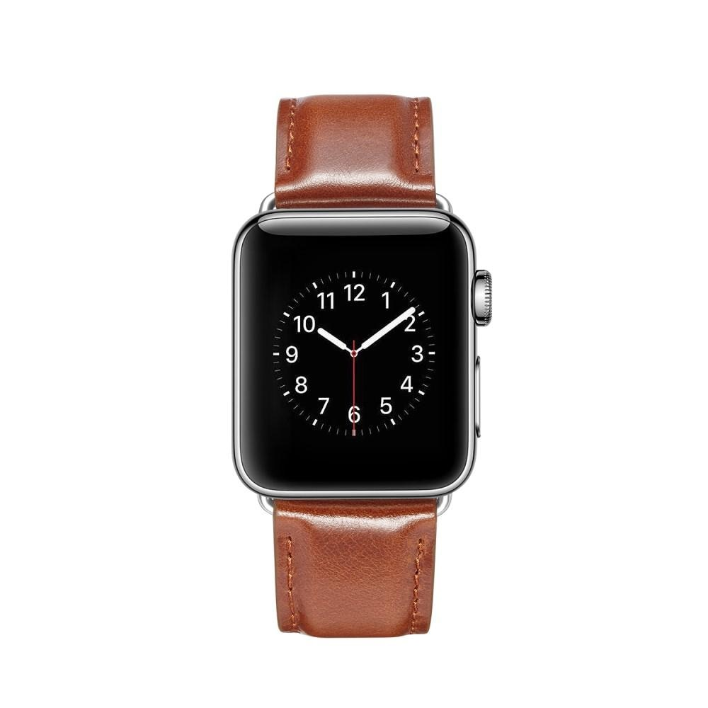 Premium Leather Armband Apple Watch 42/44/45 mm Cognac