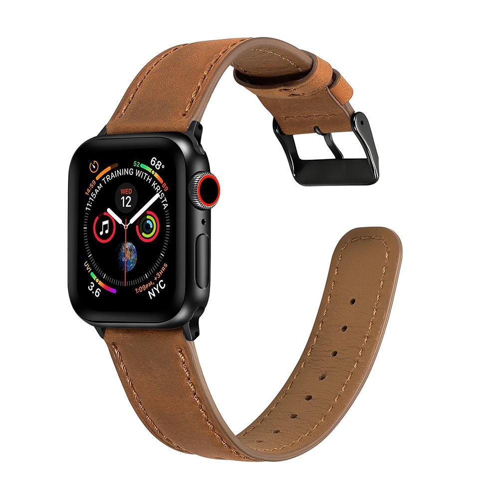 Retro Armband Apple Watch 42/44/45 mm Cognac