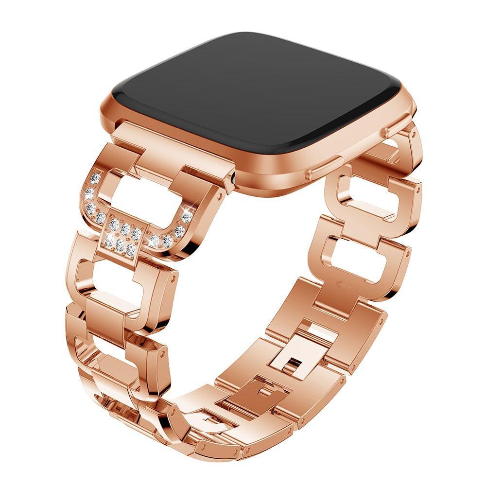 Rhinestone Bracelet Fitbit Versa/Versa 2 Rose Gold