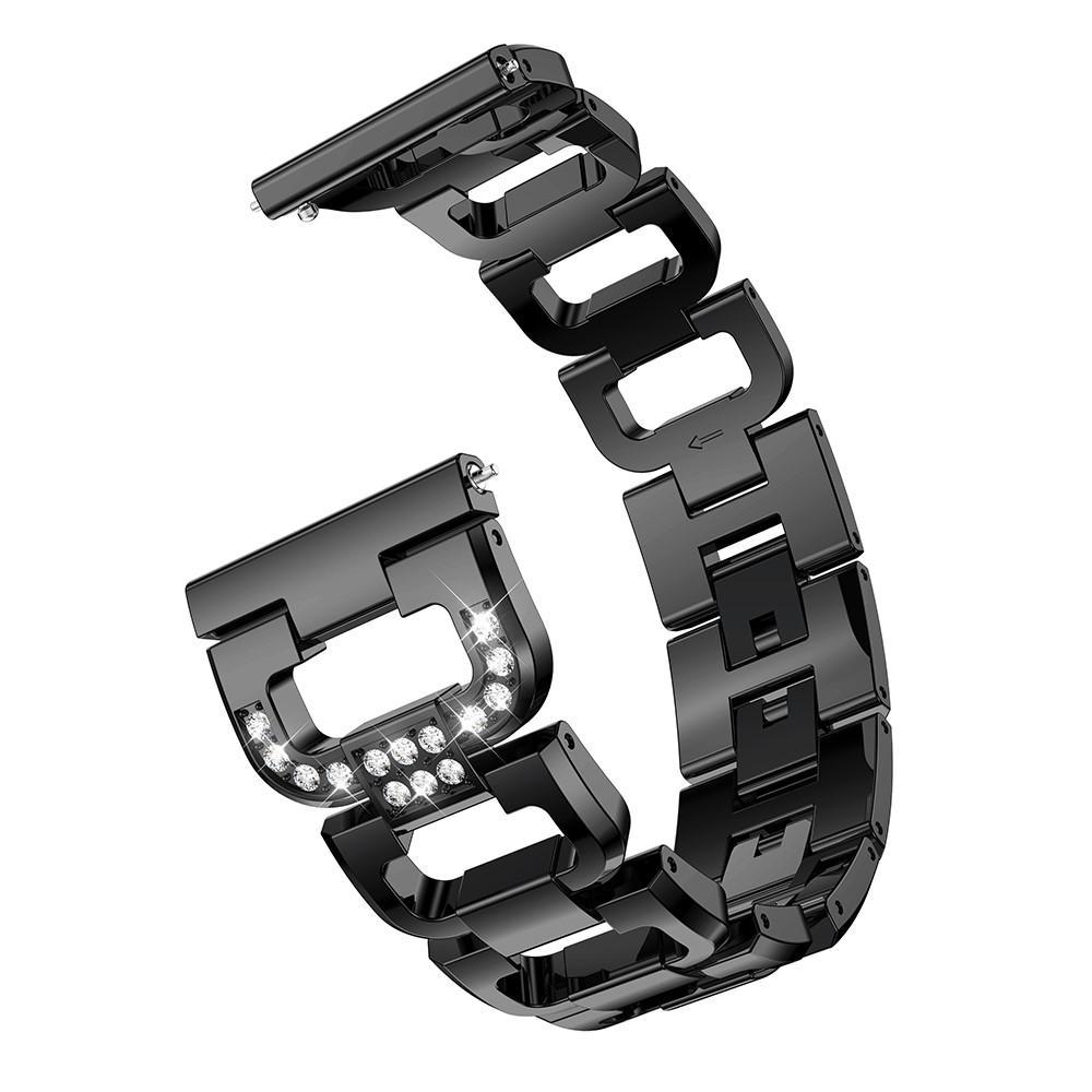 Rhinestone Bracelet Galaxy Watch 4 40/42/44/46 mm Black