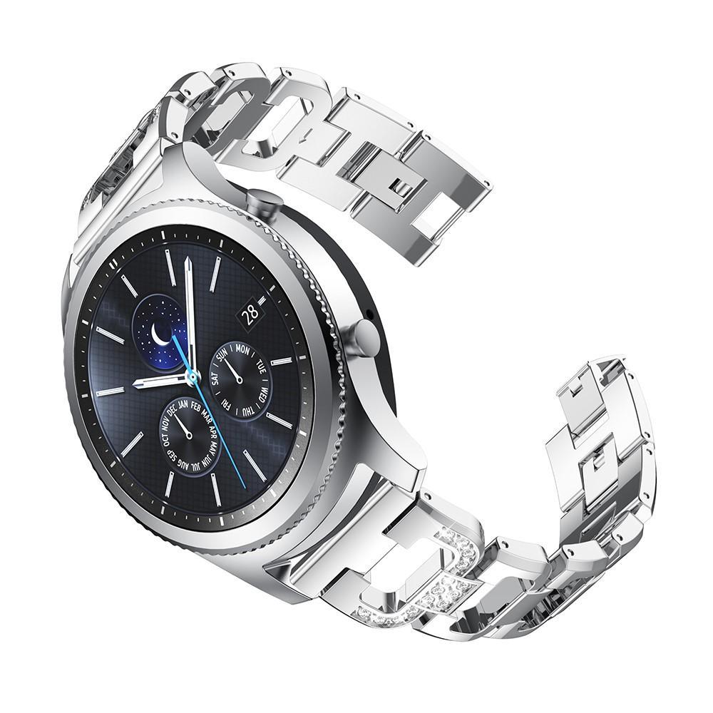 Rhinestone Bracelet Galaxy Watch 46mm/Gear S3 Silver