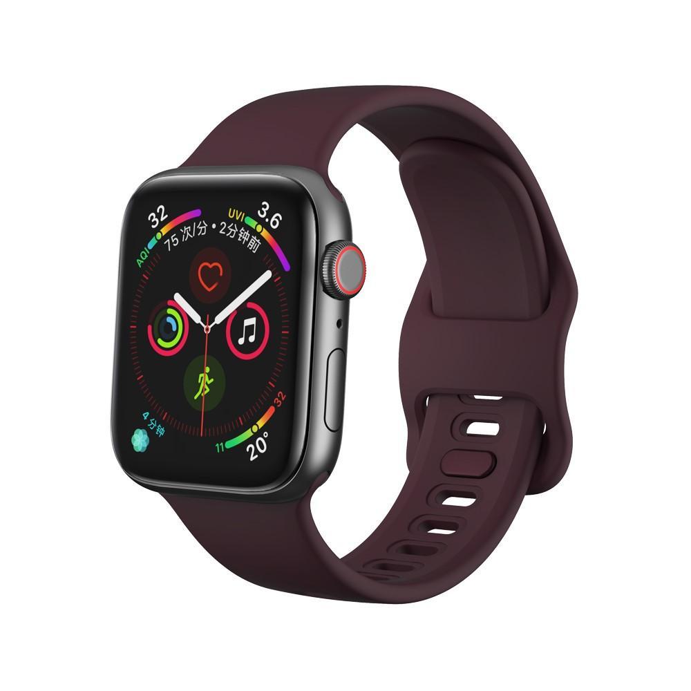 Silikonarmbånd Apple Watch 38/40 mm lilla