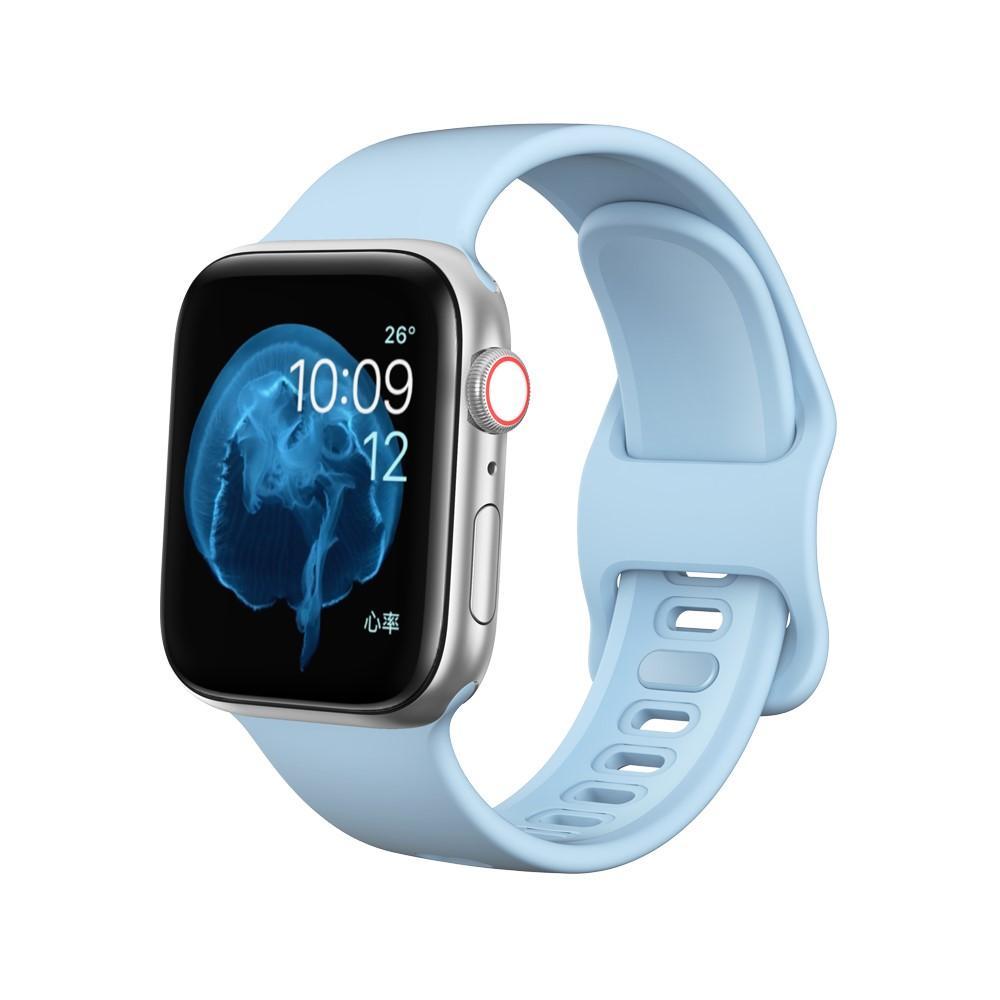 Silikonarmbånd Apple Watch 38/40 mm lyseblå