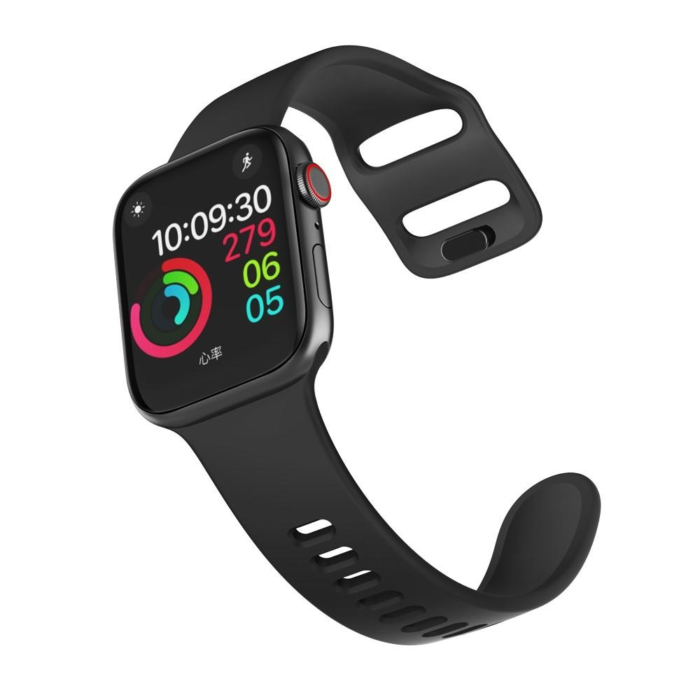 Silikonarmbånd Apple Watch 38/40/41 mm svart