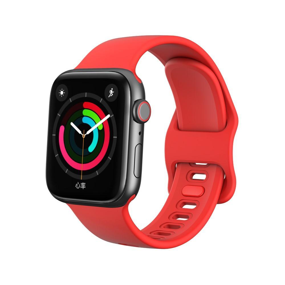 Silikonarmbånd Apple Watch 42/44/45 mm rød