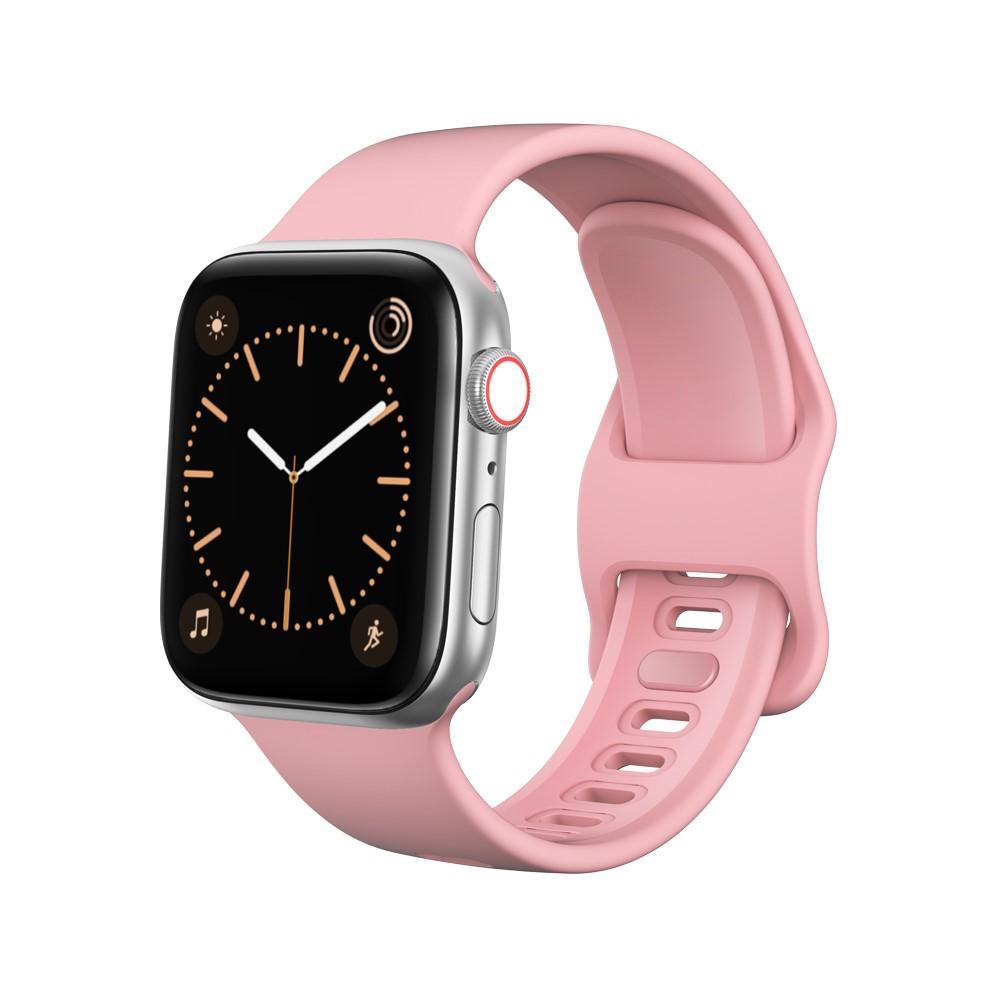 Silikonarmbånd Apple Watch 42/44/45 mm rosa