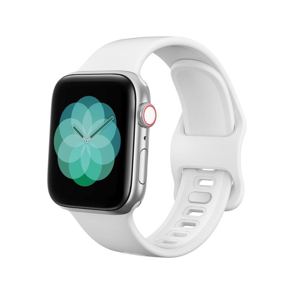 Silikonarmbånd Apple Watch 42/44/45 mm hvit