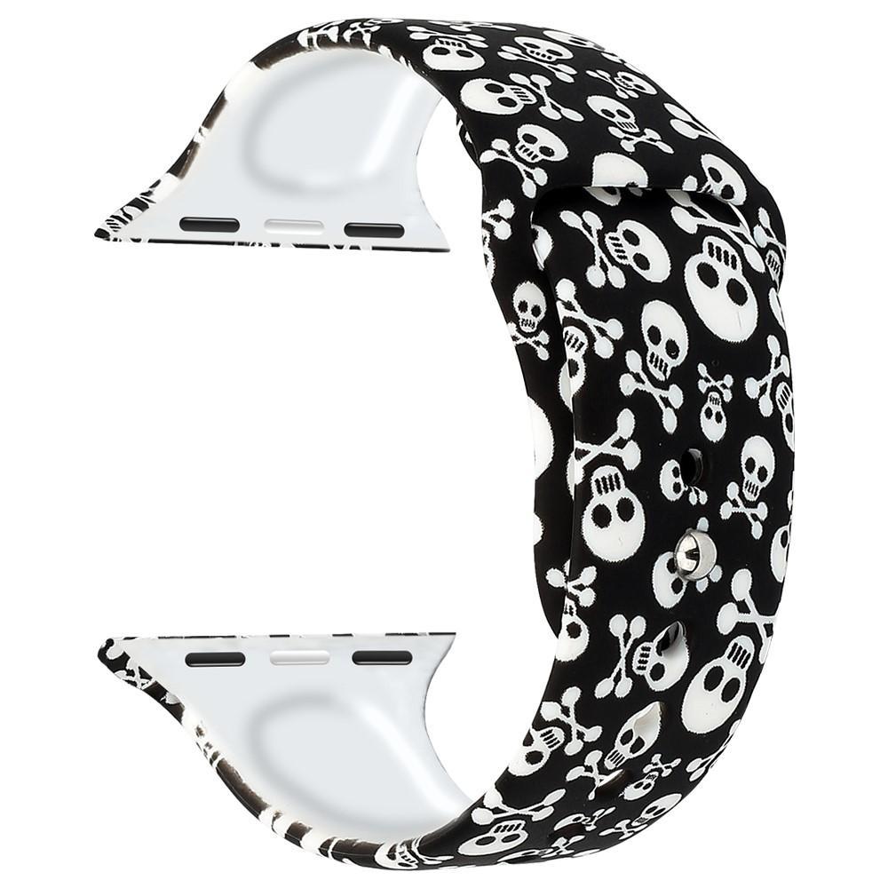 Silikonarmbånd Apple Watch 42/44/45 mm dödskallar