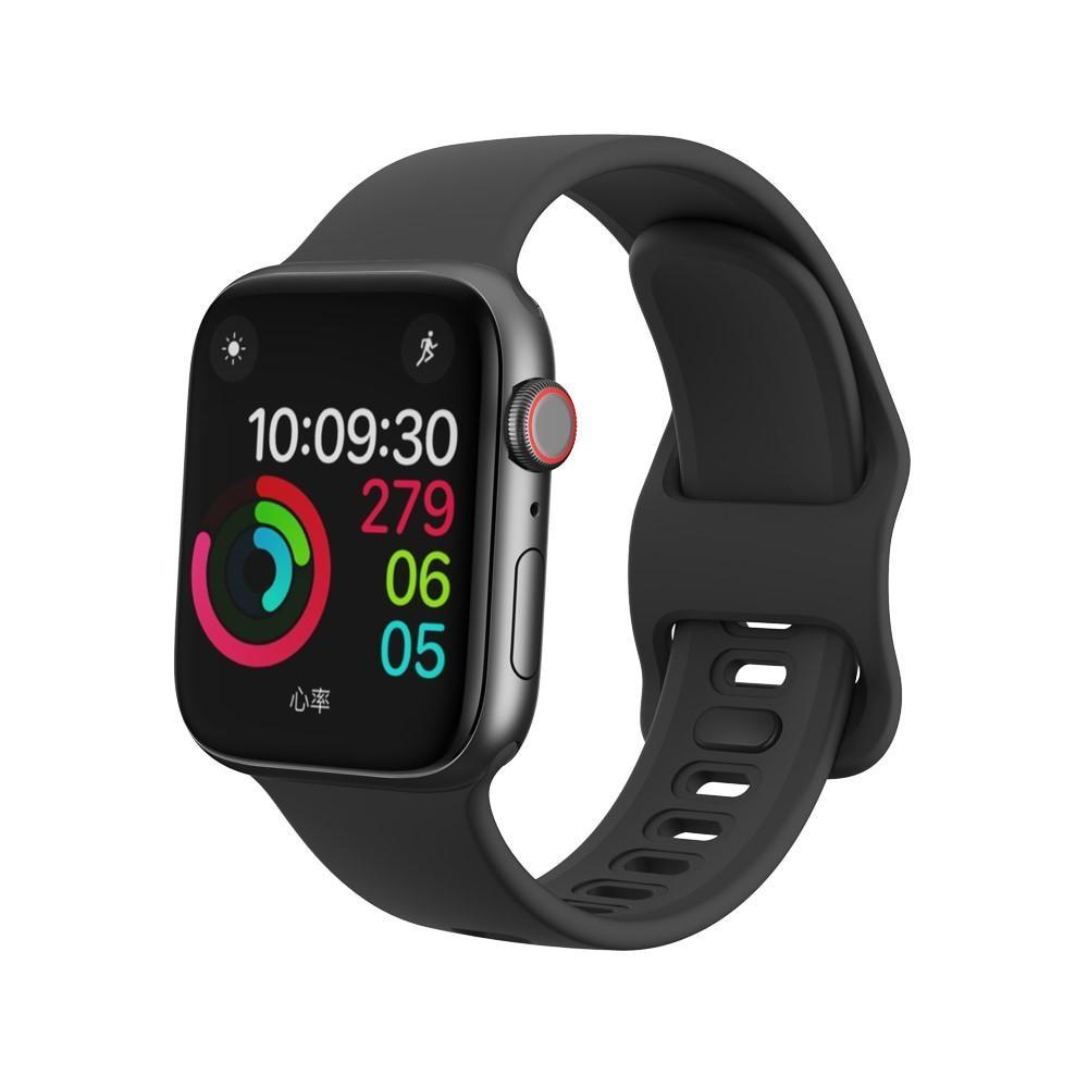Silikonarmbånd Apple Watch 42/44/45 mm svart