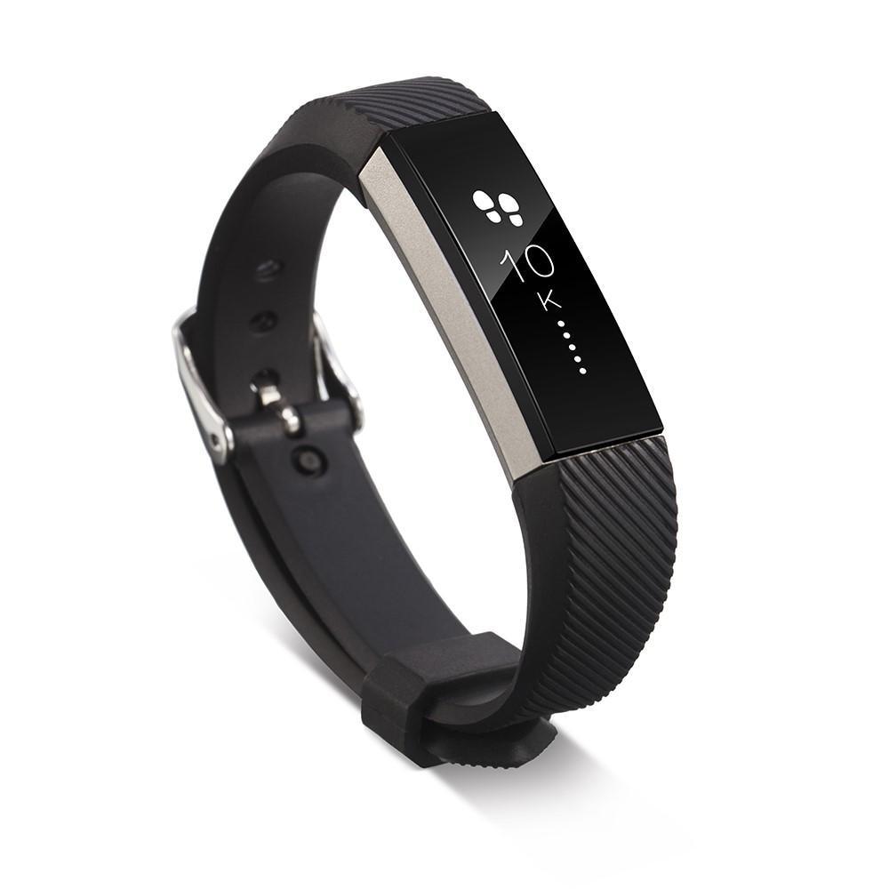 Silikonarmbånd Fitbit Alta/Alta HR svart