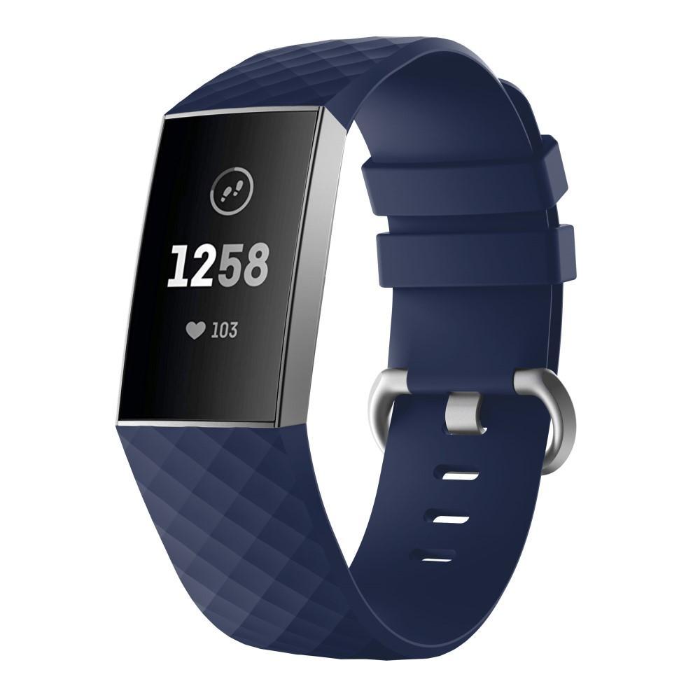 Silikonarmbånd Fitbit Charge 3/4 blå