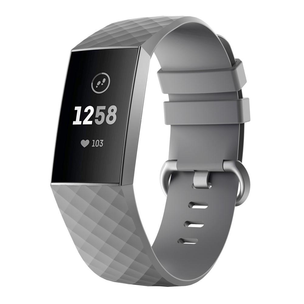 Silikonarmbånd Fitbit Charge 3/4 grå