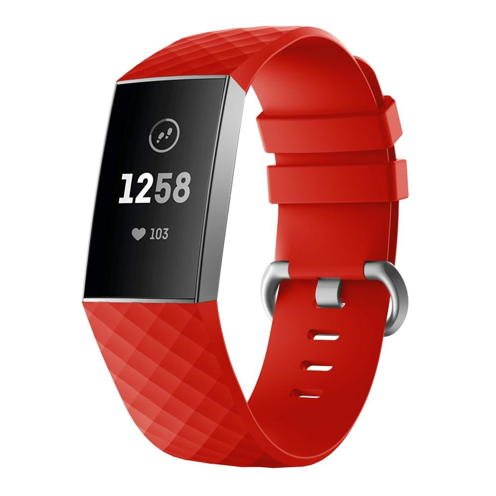 Silikonarmbånd Fitbit Charge 3/4 rød