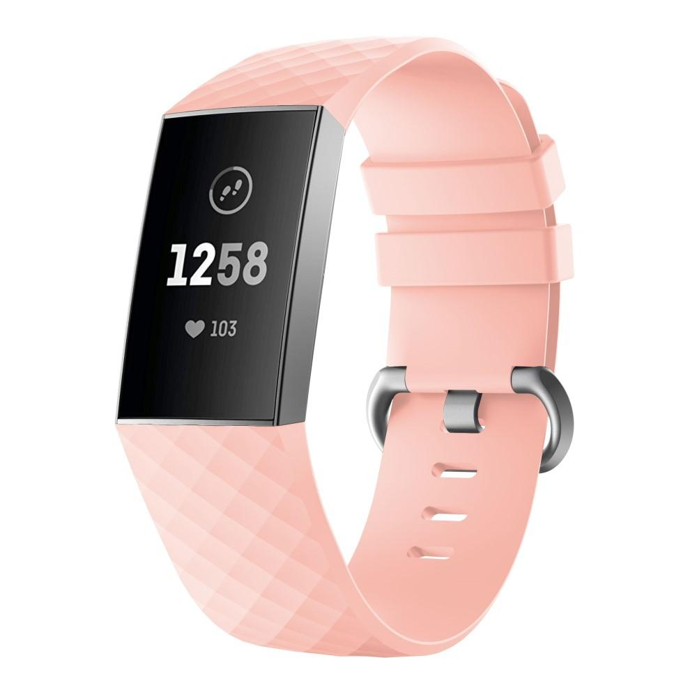 Silikonarmbånd Fitbit Charge 3/4 rosa