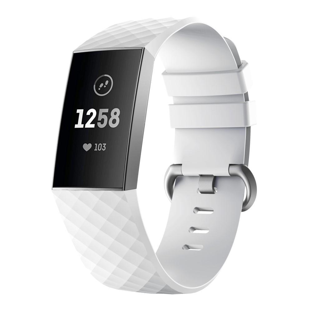 Silikonarmbånd Fitbit Charge 3/4 hvit