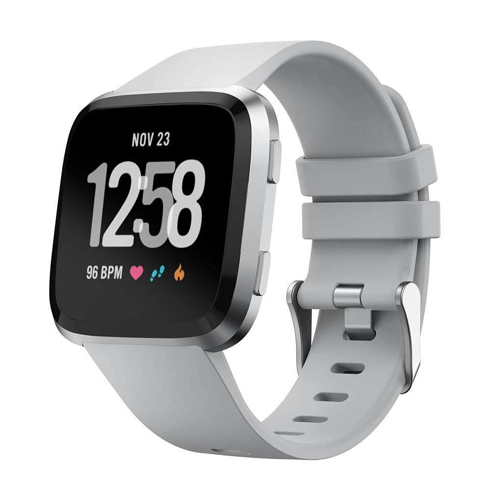 Silikonarmbånd Fitbit Versa/Versa 2 grå